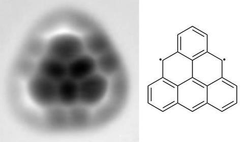 Triangulene: AFM image and structure