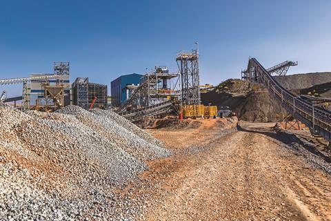Cullinan diamond mine with a kimberlite heap in South Africa