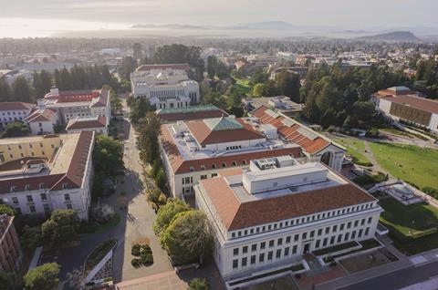 Aerial picture of the UC Berkeley campus in California