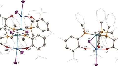 uranium–rhodium bonding