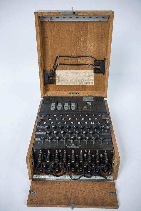 U Boat Enigma machine