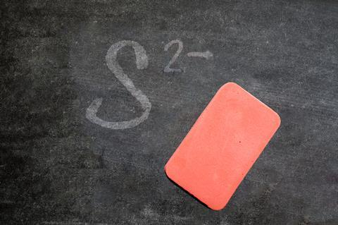 A photo of a rubber on chalk board
