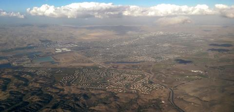 Livermore, California, from the air