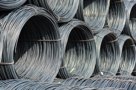 Pile of wire rod coiled for industrial usage
