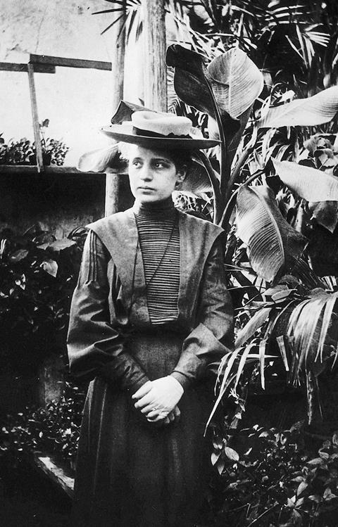 A young Lise Meitner (doctoral candidate) in 1906, Vienna