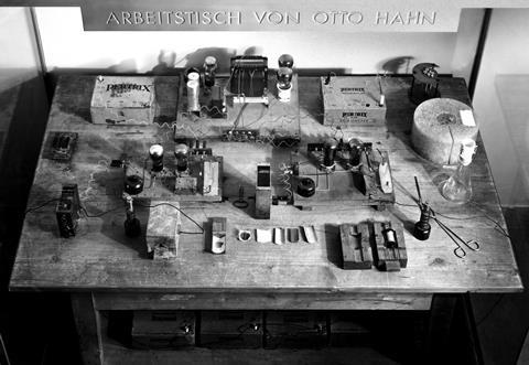 Otto Hahn's workbench for the first fission experiments 1930s