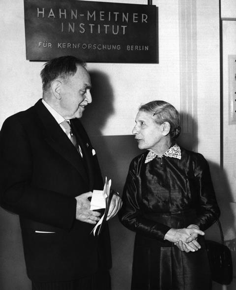 Otto Hahn and Lise Meitner in 1959