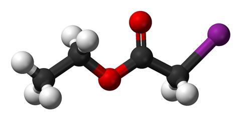 Ethyl iodoacetate 3D balls