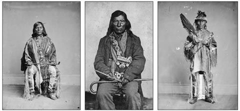 Images of postcontact Nez Perce (North American Plateau American Indian) with large postcontact-era–style elbow pipes