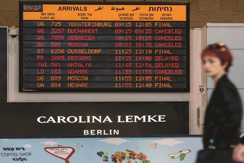 Flights at Tel Aviv airport suspended as part of a strike against Teva