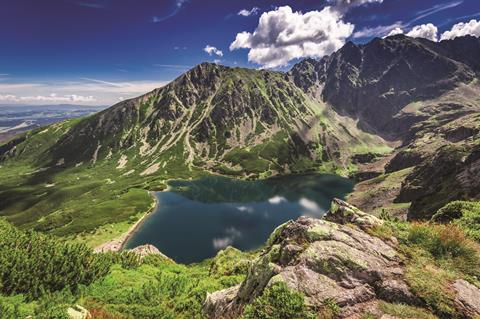 Czarnystaw gasienicowy, Tatra mountains in Poland