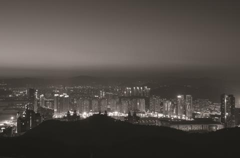 The night cityscape of Dalian