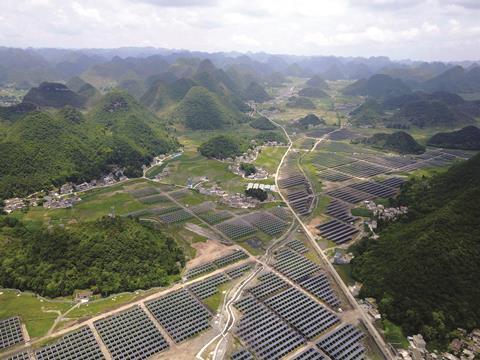 Solar panels in Guizhou province