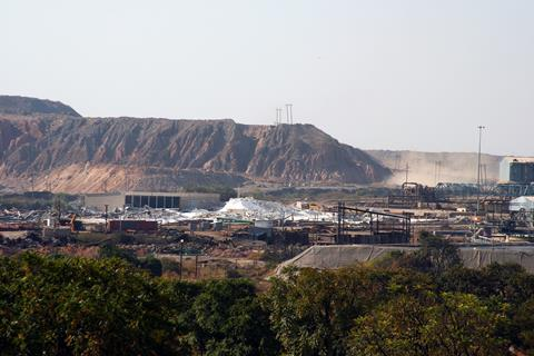Nchanga copper mine near Chingola, Zambia