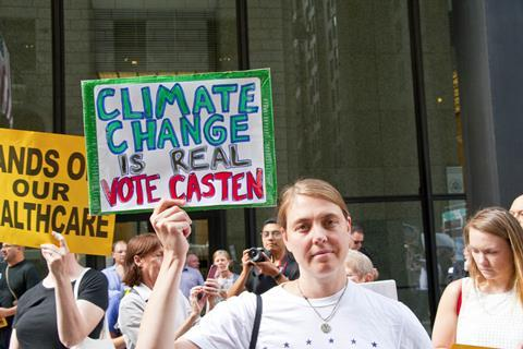 Vote Sean Casten sign