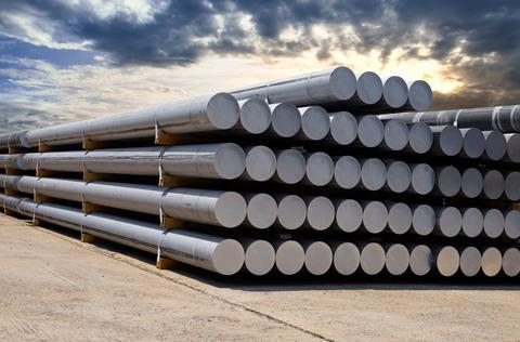 A large amount of aluminium bars