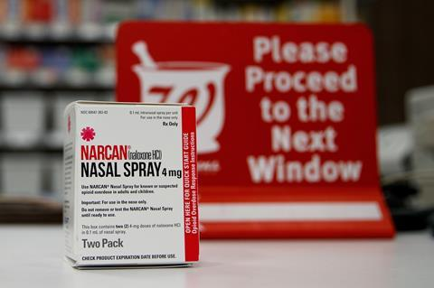 A picture of the Narcan spray