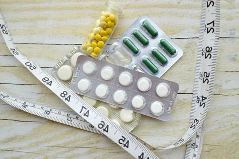 Variety of weightloss and diet pills