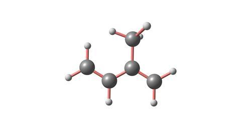 Isoprene 3d illustration