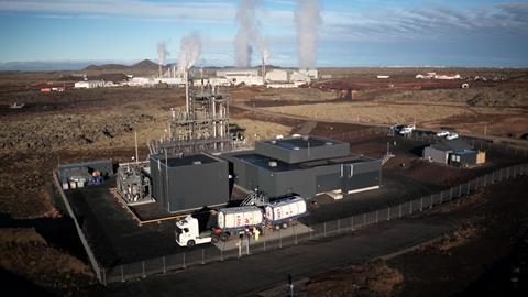 111CW - Feature - Aerial view of Carbon Recycling International plant, in Iceland