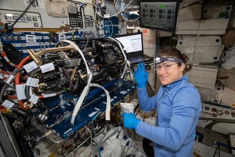 An image showing astronaut Christina Koch