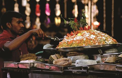 Street food vendor in Hyderabad