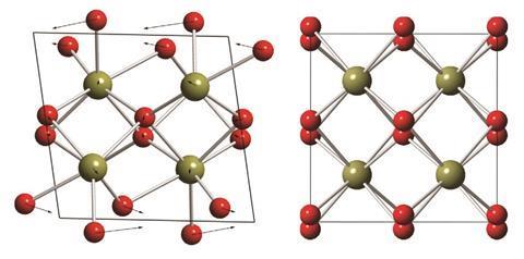 Monoclinic and tetragonal hafnium dioxide structures