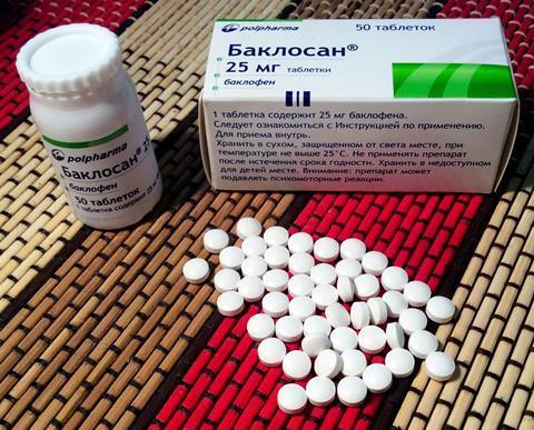 Russian baclofen (branded Baclosan) 25 mg tablets