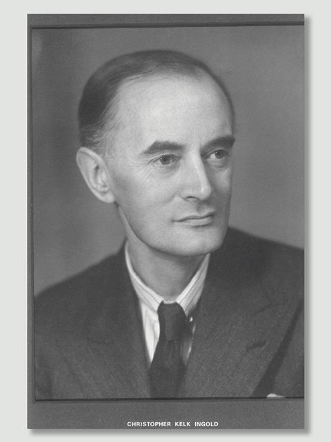 Early black and white photo of Christopher Ingold
