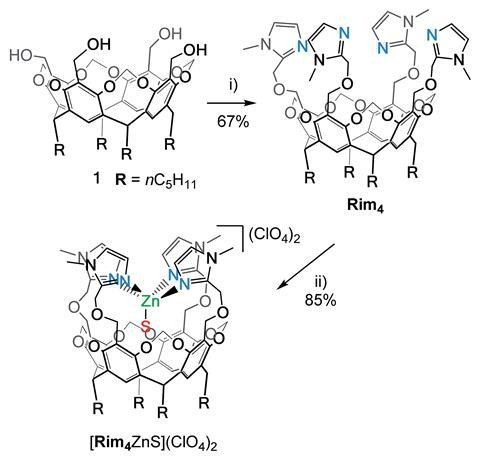 Synthetic route for ligand Rim4 and its corresponding ZnII complex