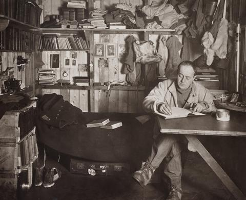 Robert Falcon Scott in the Cape Evans hut  October 1911
