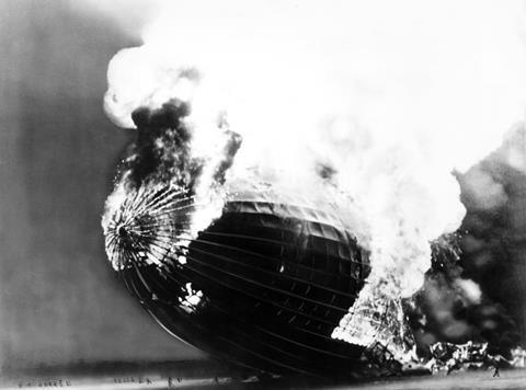 Hindenburg burning