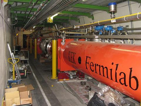 Large Hadron Collider quadrupole magnets for directing proton beams to interact