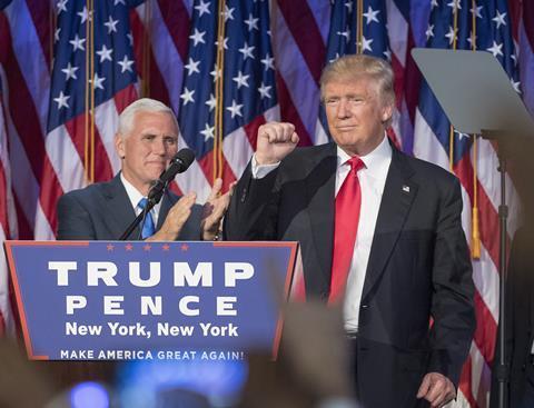 Donald Trump delivering acceptance speech