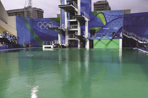 Maria Lenk Aquatics Stadium in Rio de Janeiro