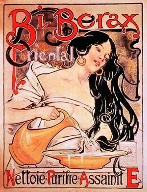Old poster for a borax product