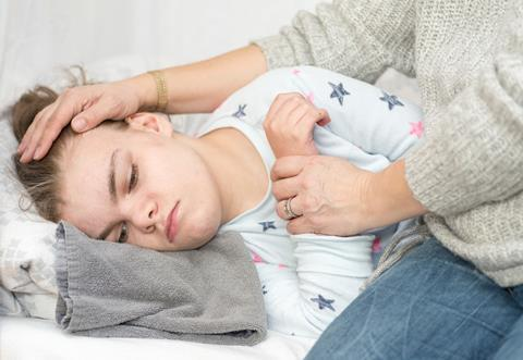 A child with epilepsy during a seizure (stock image, not Charlotte Figi)
