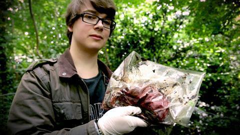Cameron Elms at Wrexham Glyndwr University body farm