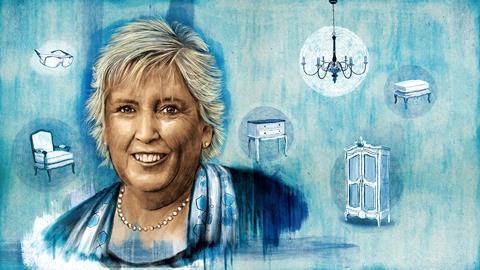 An illustrated portrait of Margaret Brimble