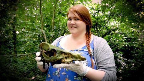 Amy Rattenbury at Wrexham Glyndwr University body farm
