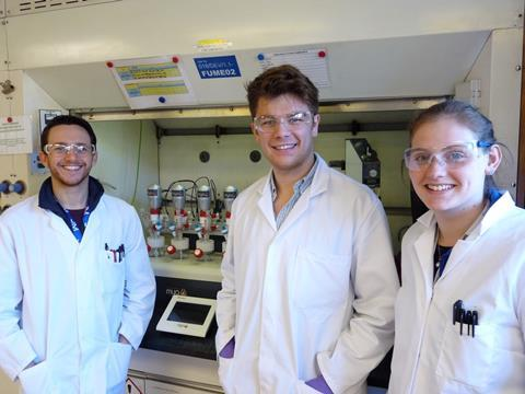 Johnson Matthey team are happy with their Mya 4 reaction station