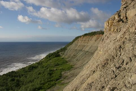 A photograph of the Zimnie Gory locality, on the White Sea in Russia
