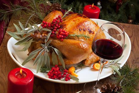 Roast Turkey and red wine