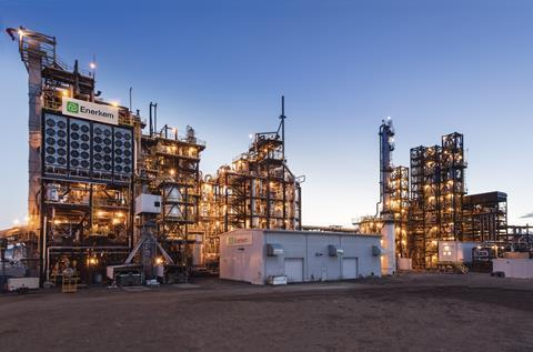 Enerkem's full-scale waste-to-biofuels facility in Edmonton, Alberta