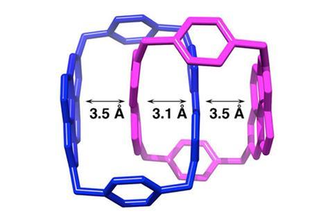 3D molecular structure of catenane radical