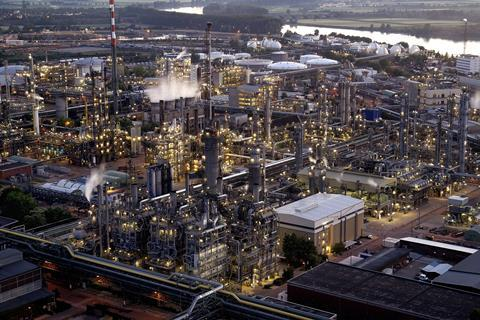 Steam cracker at BASF's Ludwigshafen site