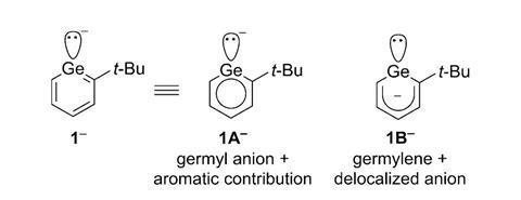 Germanium phenyl anion analogue