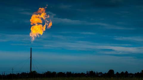 Burning off excess natural gas