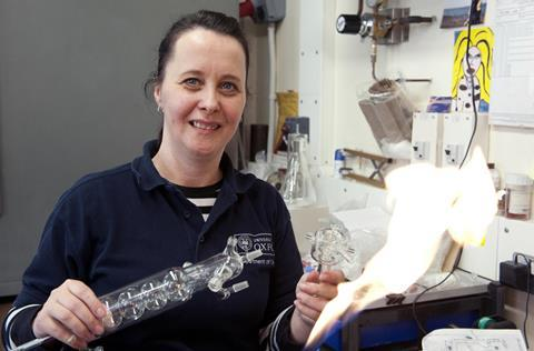 Glass blowing - Terri Adams, University of Oxford