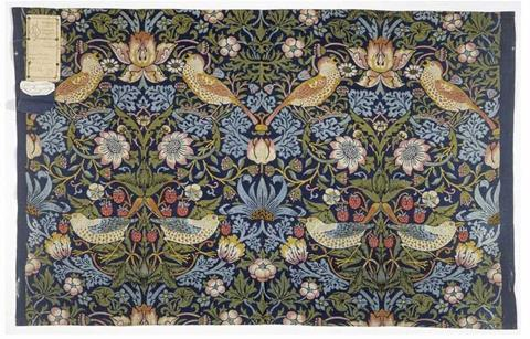 Strawberry Thief, 1883, William Morris (1834-1896) V&A Museum no. T.586-1919